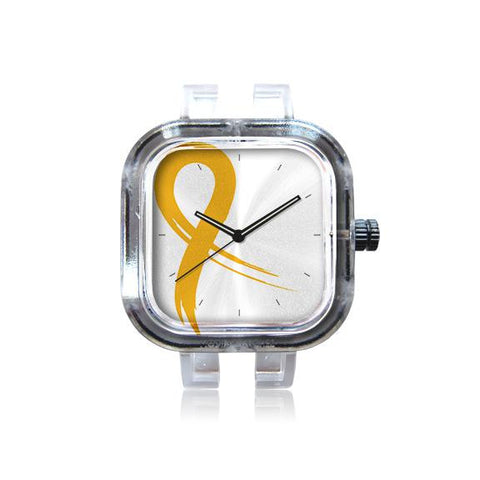Gold Ribbon White Watch