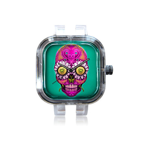 Grin's Daisy Skull Watch