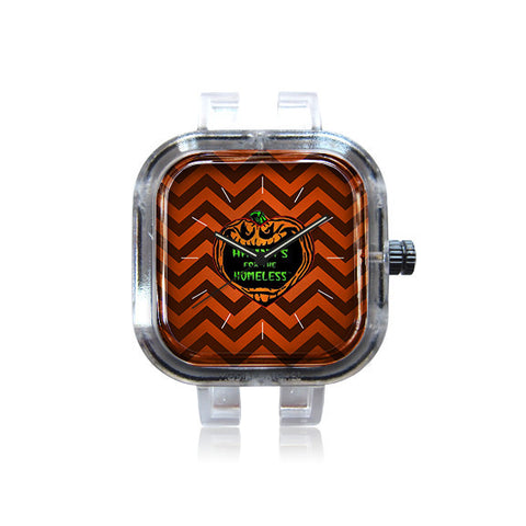 Haunts for the Homeless Ghost White Chevron Watch