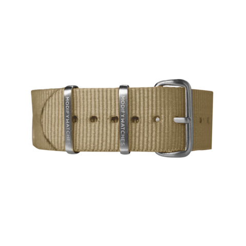 Khaki Nylon Watch Strap