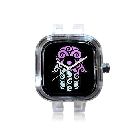 KicksbyChloe Purple Hamsa Watch