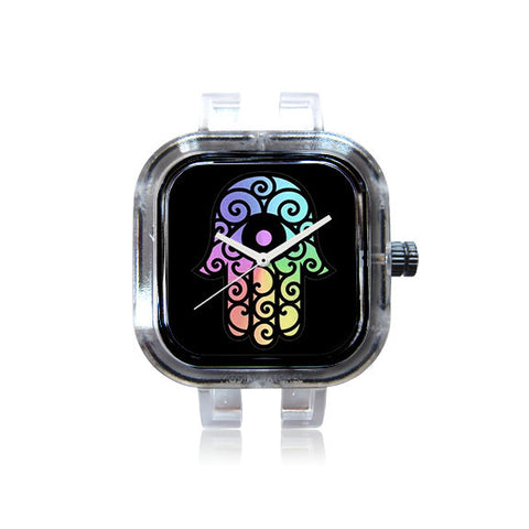 KicksbyChloe Rainbow Hamsa Watch