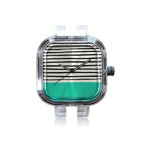 Mint and Stripes Watch