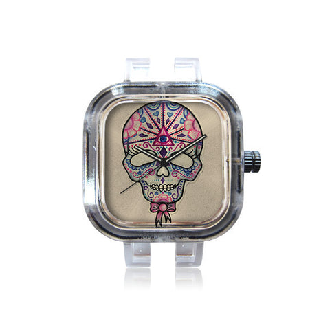 Lu Diamond Art Candy Skull Watch