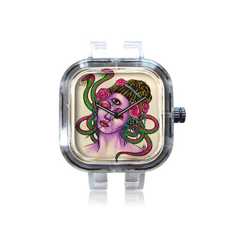 Lu Diamond Art Snake Charmer Watch
