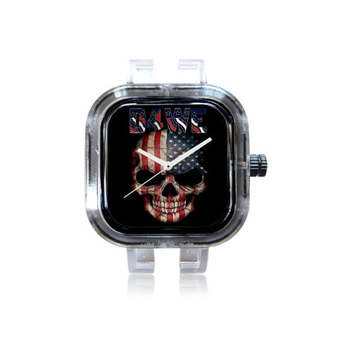 Keyz Magica Creationz USA Skull Watch