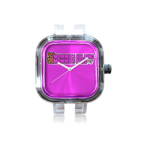 MHMFoundation Pink Logo Watch