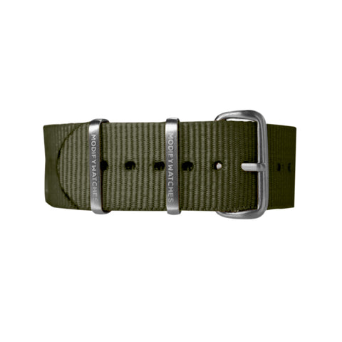 Olive Nylon Watch Strap