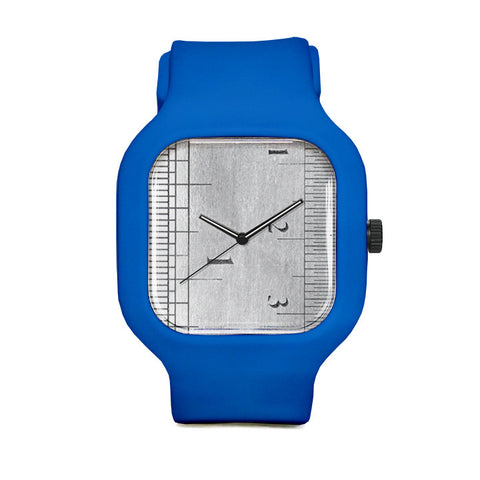 Ruler Watch with Blue Strap