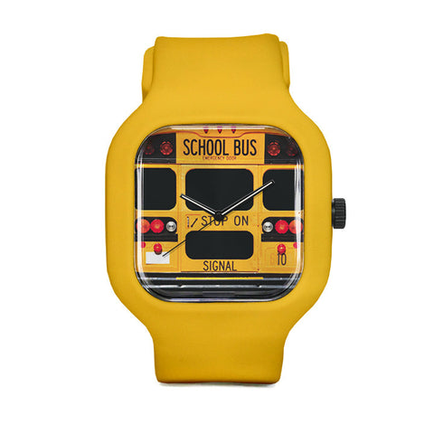 School Bus Watch with Yellow Strap