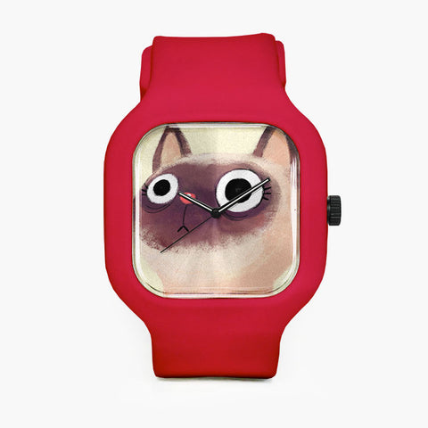 Siamese Cat Sport Watch