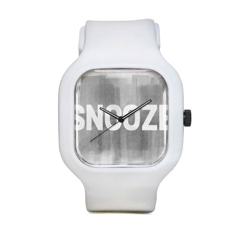 Snooze Watch with White Strap