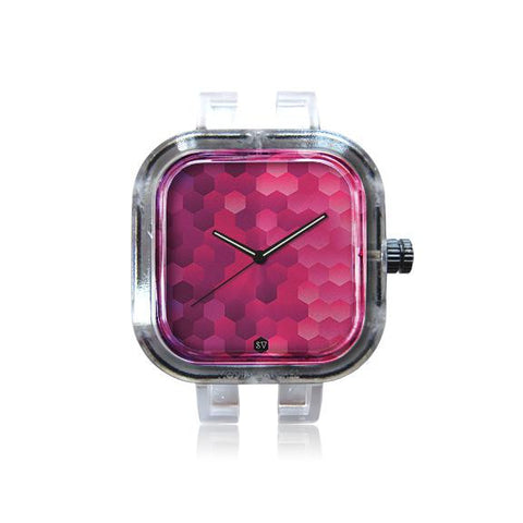 Pink Hexagon Watch