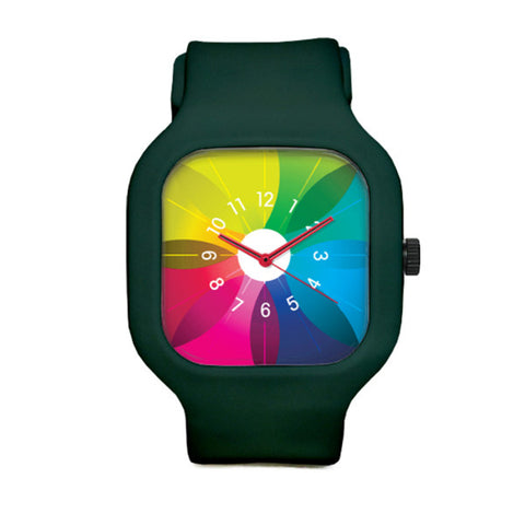 Spectrum Watch with Deep Green Strap