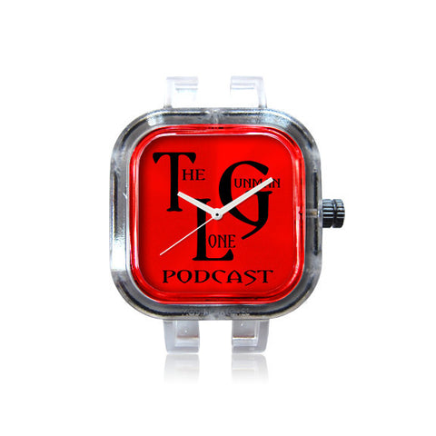 The Lone Gunman Podcast Red Logo Watch