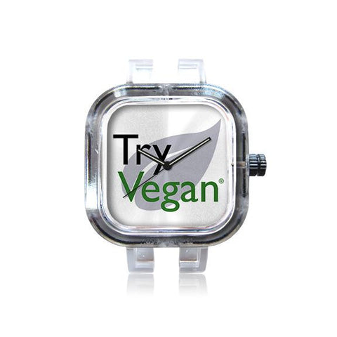 Try Vegan Logo Watch
