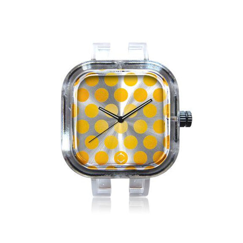 Yellow Polka Dot Watch