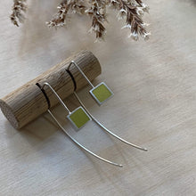 Load image into Gallery viewer, Clare Lloyd Earrings Yellow Contemporary Square Wire Earrings (various colours)