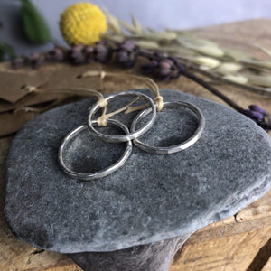 Clare Lloyd Ring Hammered Band Stacking Ring