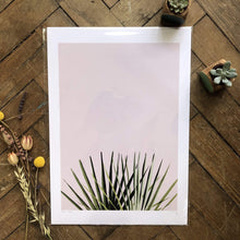 Load image into Gallery viewer, Do It Later Illustration Prints A3 (29.7 x 42cm) Pink Palm Print (various sizes)