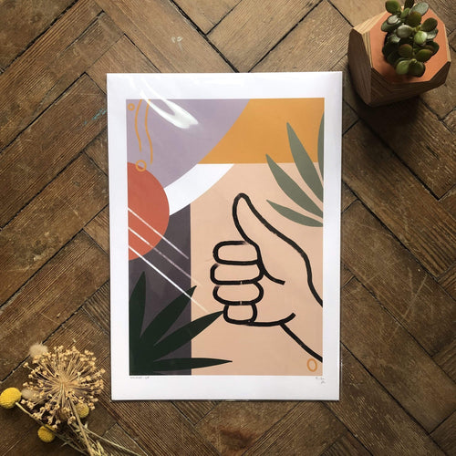 Do It Later Illustration Prints Thumbs Up Print (various sizes)