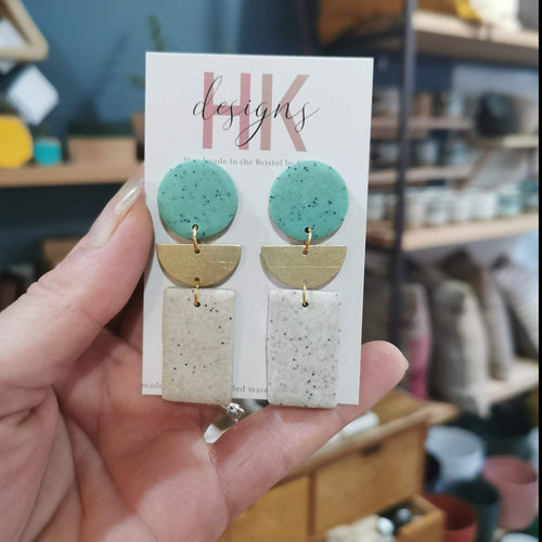 HK Designs Earrings Boho-Dangle (Mint)