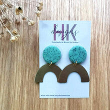 Load image into Gallery viewer, HK Designs Earrings Brass Arch - Mint