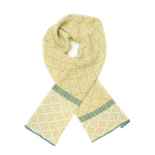 Load image into Gallery viewer, Katie Victoria Scarf Citrus Wave Scarf  - 100% Merino Lambswool