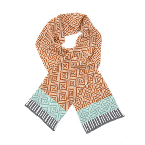 Katie Victoria Scarf Gold Tile Scarf  - 100% Merino Lambswool