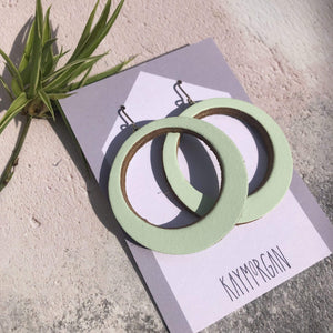 Kay Morgan Earrings Mint Hoop Earrings - Large (various colours)