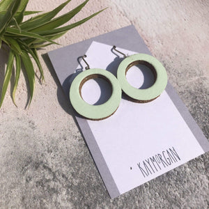 Kay Morgan Earrings Mint Hoop Earrings - Small (various colours)