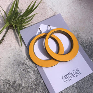 Hoop Earrings - Large (various colours)