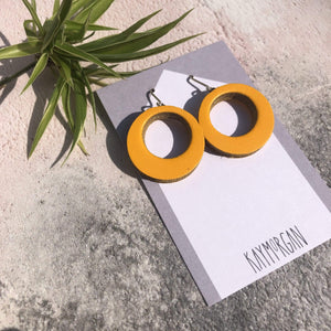 Kay Morgan Earrings Mustard Hoop Earrings - Small (various colours)