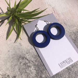 Kay Morgan Earrings Royal Blue Hoop Earrings - Small (various colours)