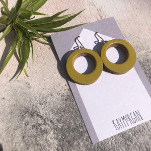 Kay Morgan Earrings Yellow/Green Hoop Earrings - Small (various colours)