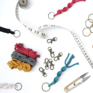 Knots & Shots Macrame Kit Macrame Keyring Kit (x3)