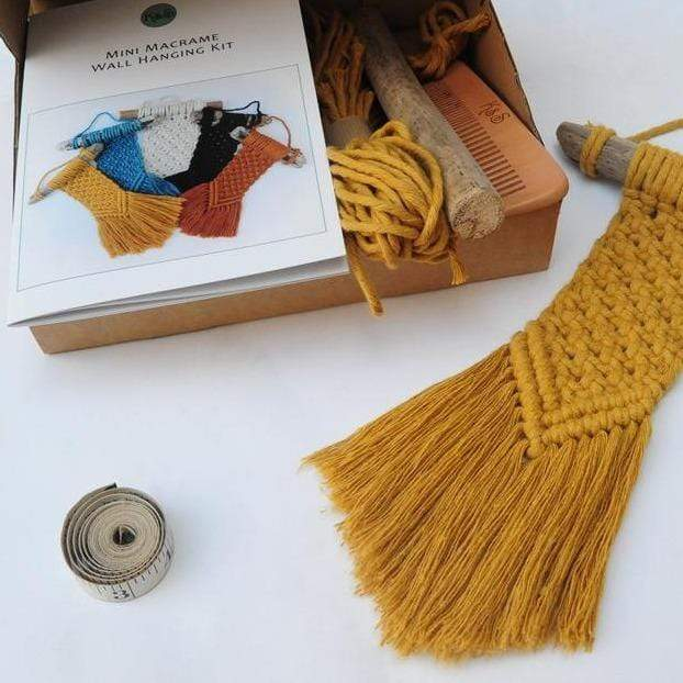 Knots & Shots Macrame Kit Macrame Wall Hanging Kit