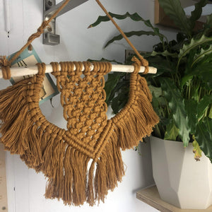 Knots & Shots Macrame Wall hanging Dark orange Macrame Wall Hangings - medium (various colours)