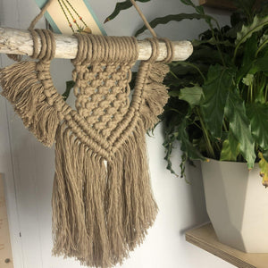 Knots & Shots Macrame Wall hanging Stone Macrame Wall Hangings - medium (various colours)