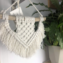 Load image into Gallery viewer, Knots & Shots Macrame Wall hanging White Macrame Wall Hangings - medium (various colours)
