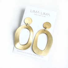 Load image into Gallery viewer, Lima Lima Earrings Brass Flora Earrings