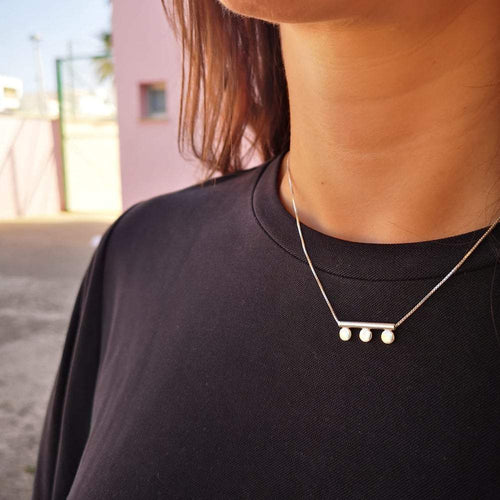Lima Lima Necklace Three Dots Necklace - EcoSilver