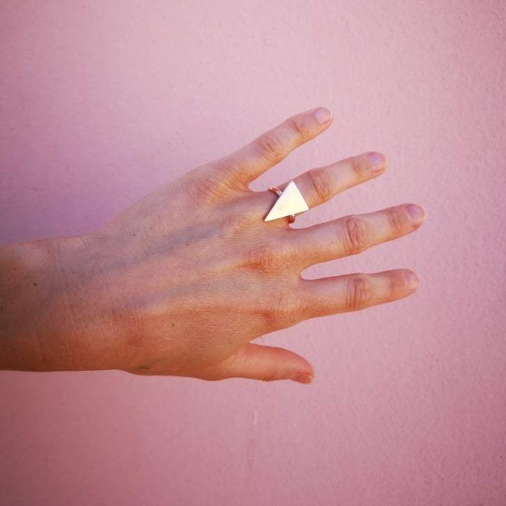 Lima Lima Ring Triangle Ring (Ecosilver or Brass)