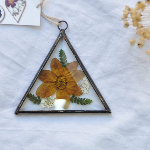 Paly Glass a Pressed Flower Frames - triangle