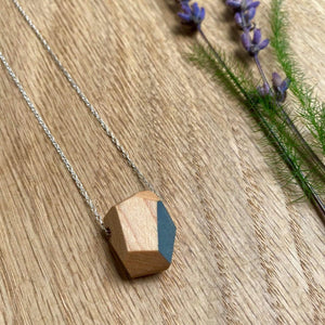Priormade Prior Maple - Bowling Alley - ROCK - Grey Wooden Necklaces (with provenance)-various designs