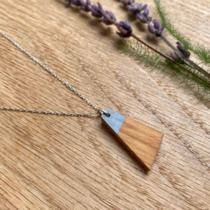 Priormade Prior Oak - Windmill Blade - Grey Wooden Necklaces (with provenance)-various designs