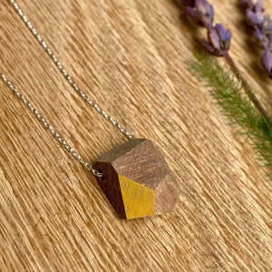 Priormade Prior Teak - Thekla - Rock - Ochre Wooden Necklaces (with provenance)-various designs