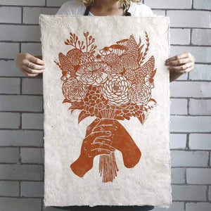 Rosanna Morris Prints Burnt Orange Bloom