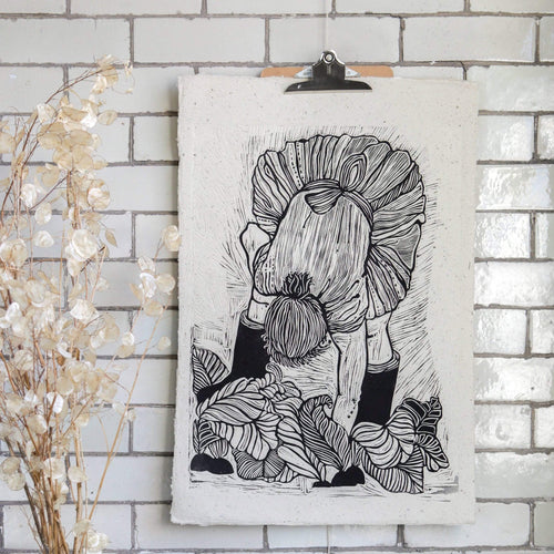 Rosanna Morris Prints Lino Print 'Mary' (print only or framed)