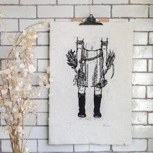 Load image into Gallery viewer, Rosanna Morris Prints Print Lino Print  ' Boots'